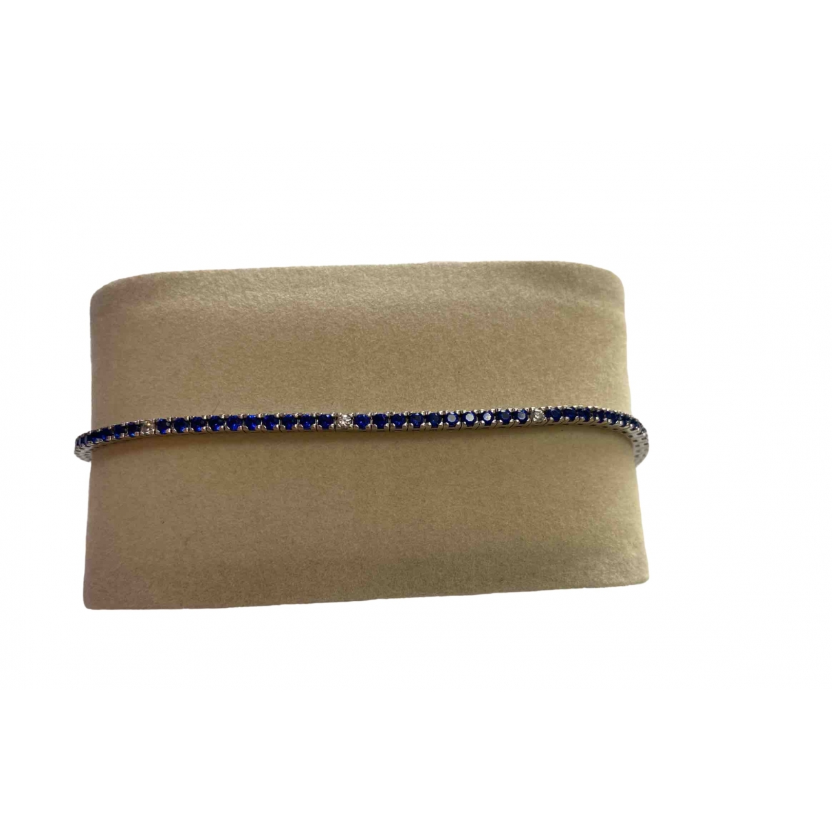 Non Sign?? / Unsigned \N Blue White gold Jewellery for Men \N
