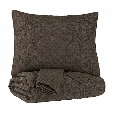 Signature Design by Ashley Ryter Coverlet Set, One Size , Brown