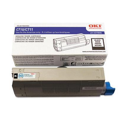 Okidata 44318604 cartouche de toner originale noire pour l'imprimante C711