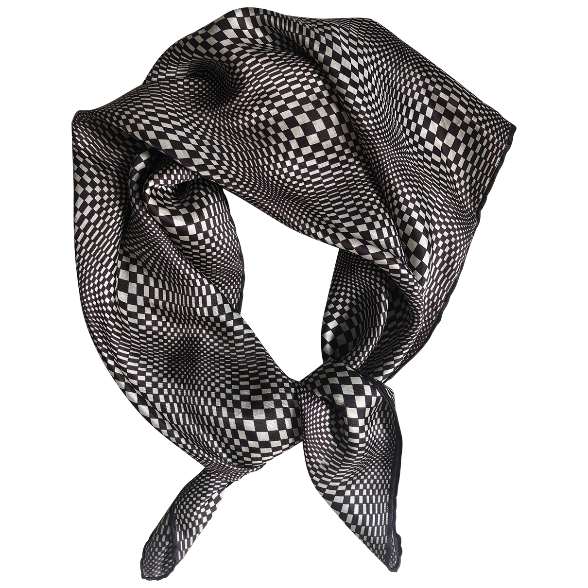 Non Sign?? / Unsigned \N Brown Silk scarf for Women \N