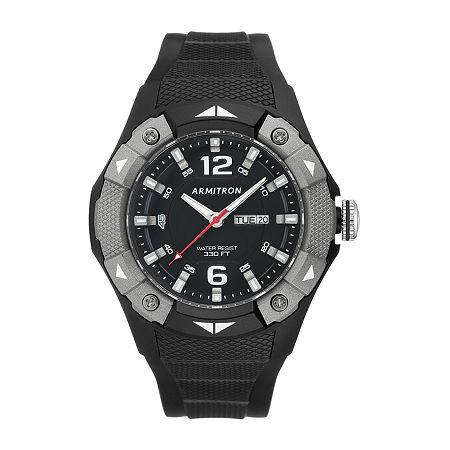 Armitron Pro Sport Mens Black Strap Watch-20/5292gbk, One Size , No Color Family