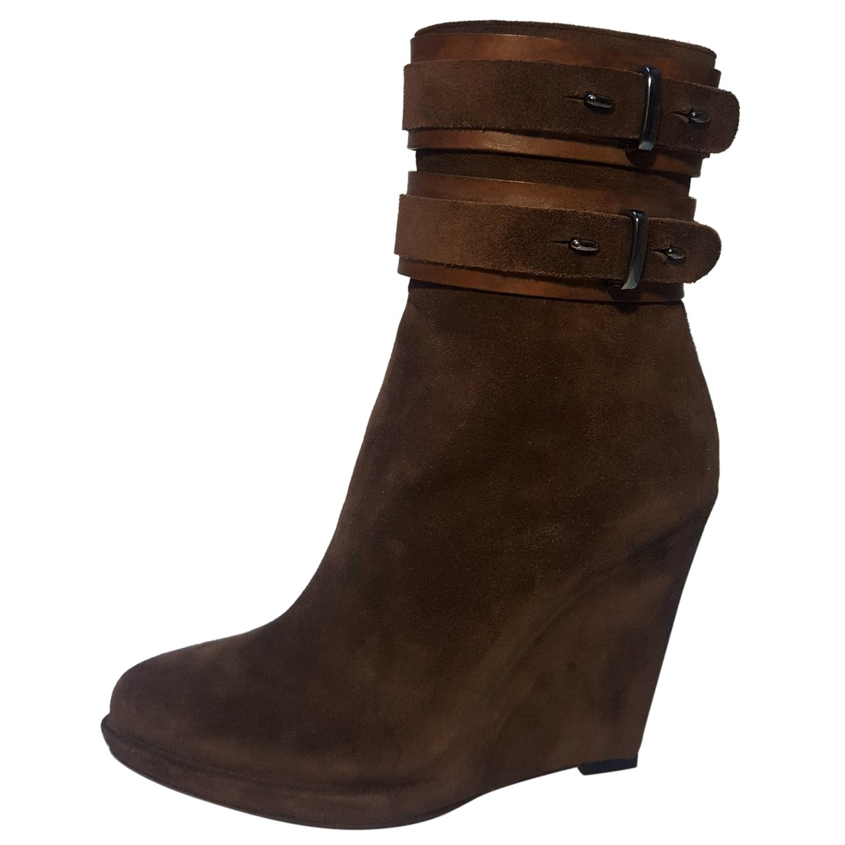 Givenchy \N Brown Suede Ankle boots for Women 37 EU