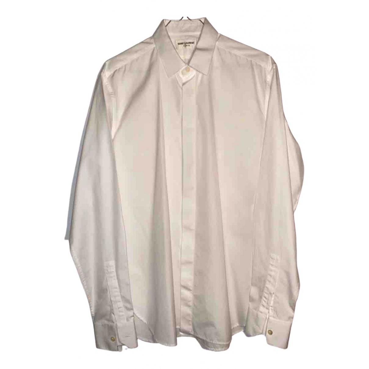 Saint Laurent \N White Cotton Shirts for Men S International
