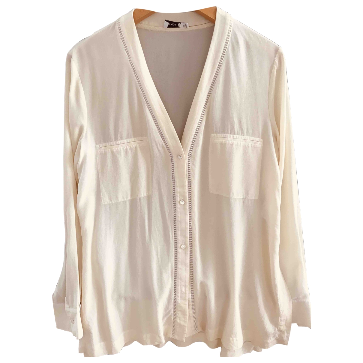 Vince \N Beige Silk  top for Women 40 FR