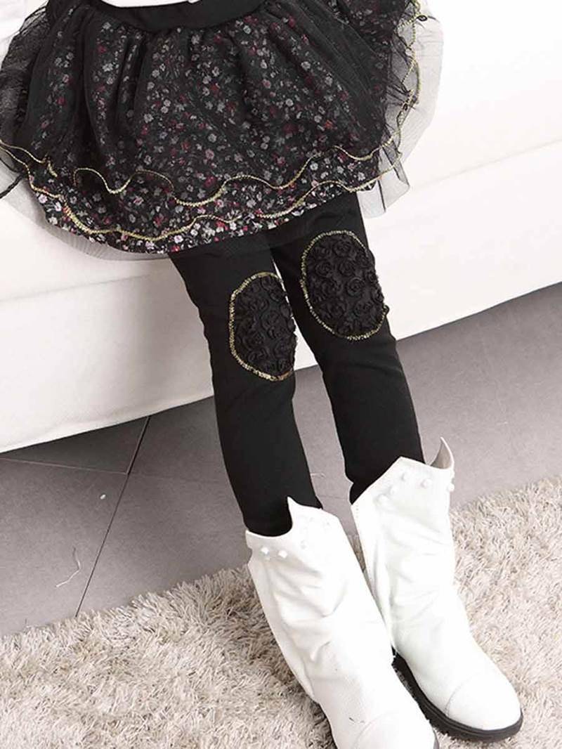 Ericdress Floral TUTU Skirt Girls Leggings
