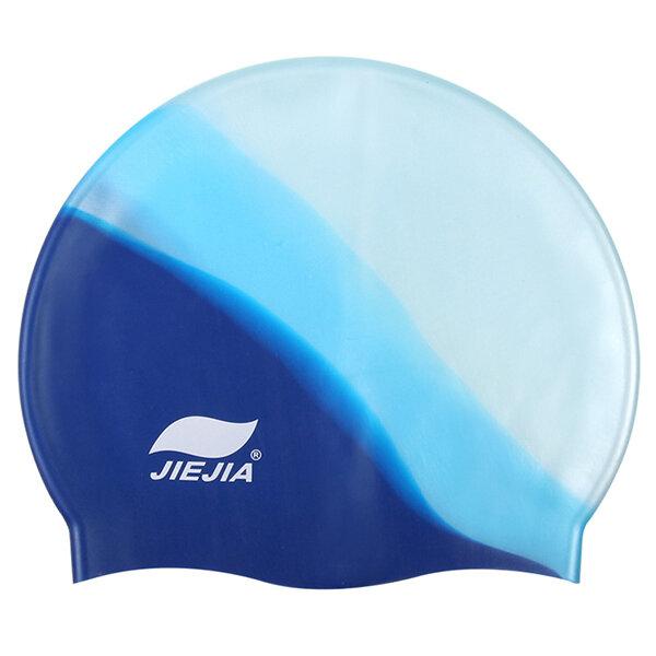 Women Men Waterproof Silicone Swimming Cap High Elastic Comfortable Swimming Hat