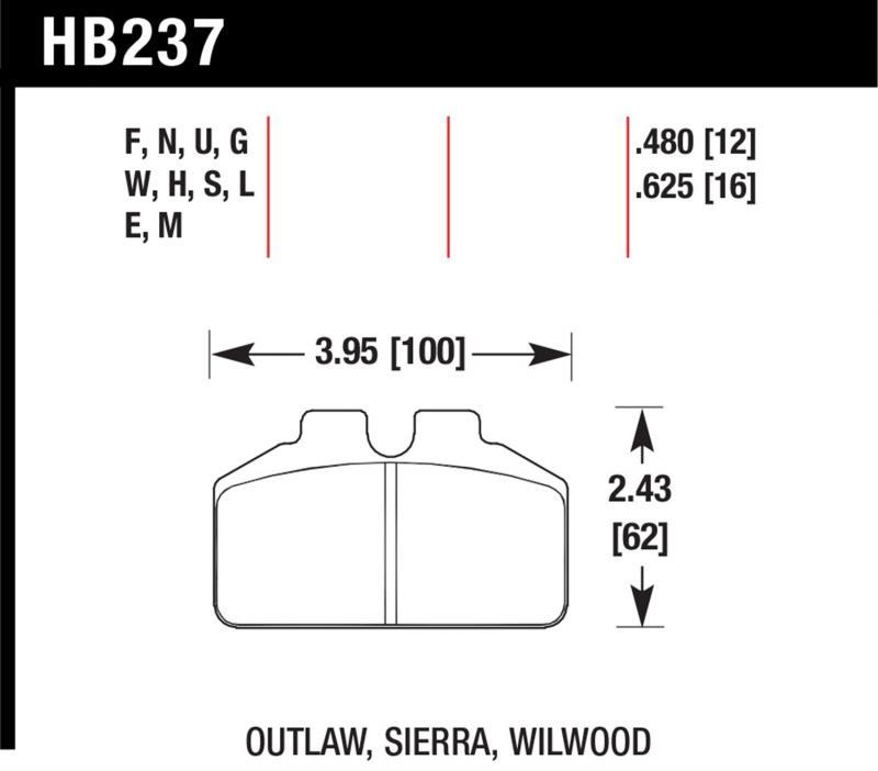 Hawk Performance HB237S.480 Disc Brake Pad