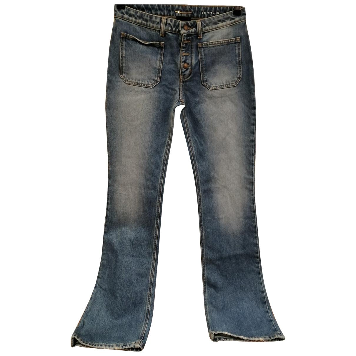 Saint Laurent \N Blue Cotton Jeans for Women 27 US
