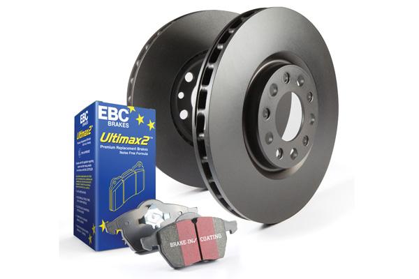 EBC Brakes S20K1377 S20K Kit Number Front/REAR Disc Brake Pad and Rotor Kit UD473+RK570+UD636+RK639 Front