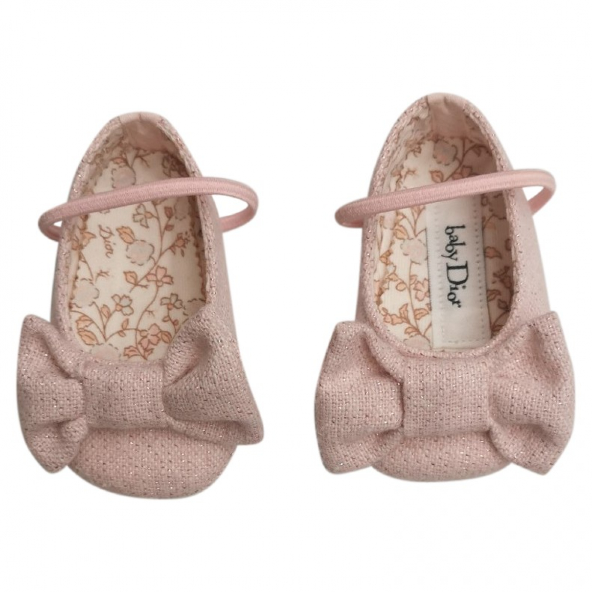 Baby Dior \N Pink Cloth Ballet flats for Kids 17 FR
