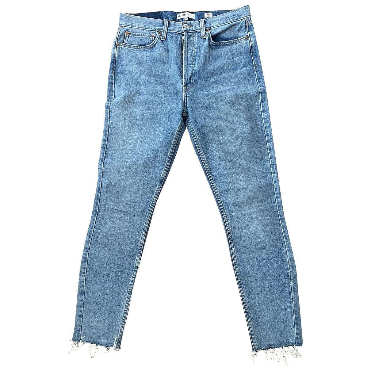 Re/done \N Blue Denim - Jeans Jeans for Women 30 US
