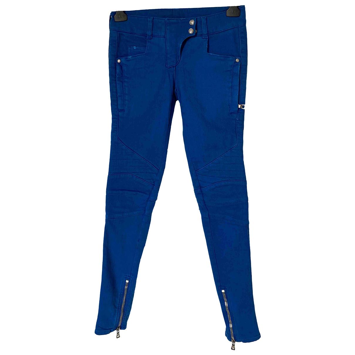 Balmain \N Blue Cotton - elasthane Jeans for Women 34 FR
