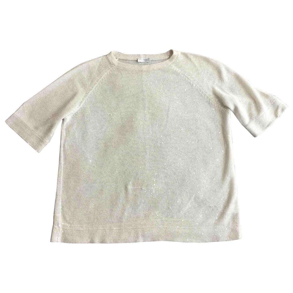 Brunello Cucinelli \N Ecru Linen Knitwear for Women M International