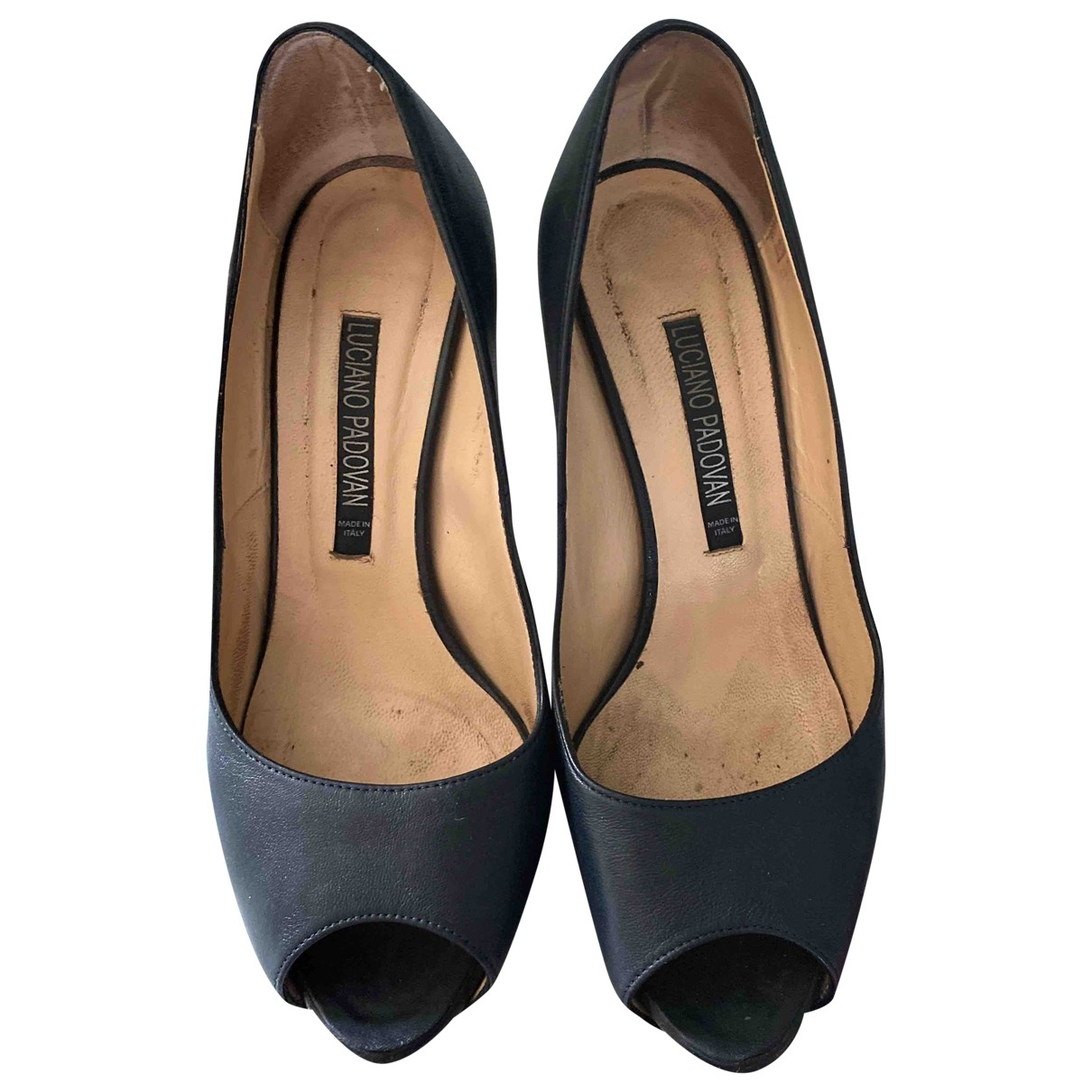 Luciano Padovan \N Blue Leather Heels for Women 37.5 EU