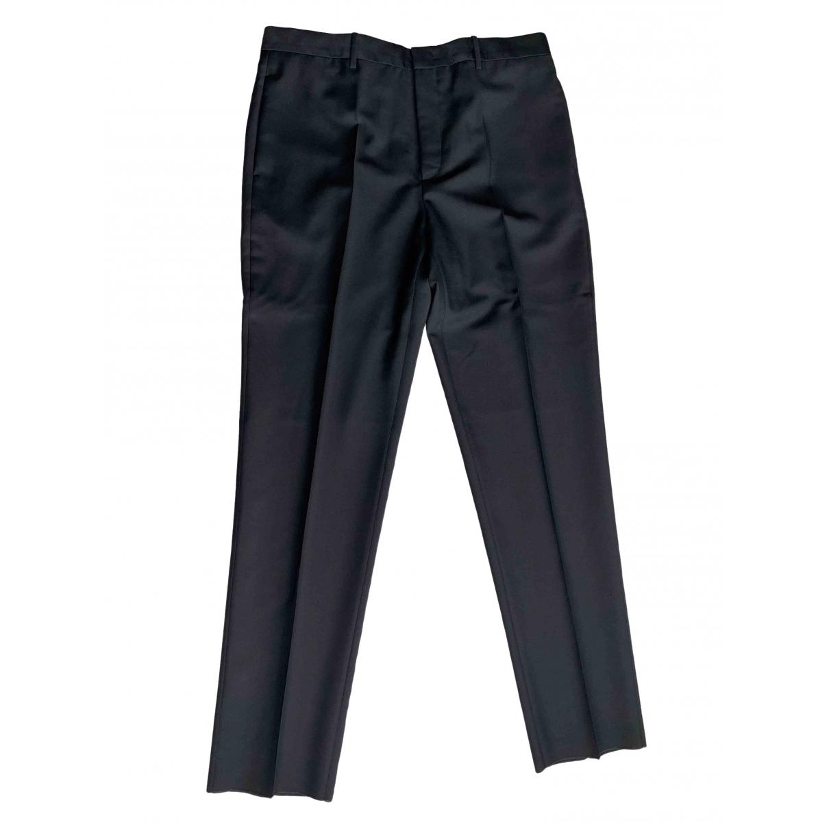 Jil Sander \N Black Wool Trousers for Men 54 IT