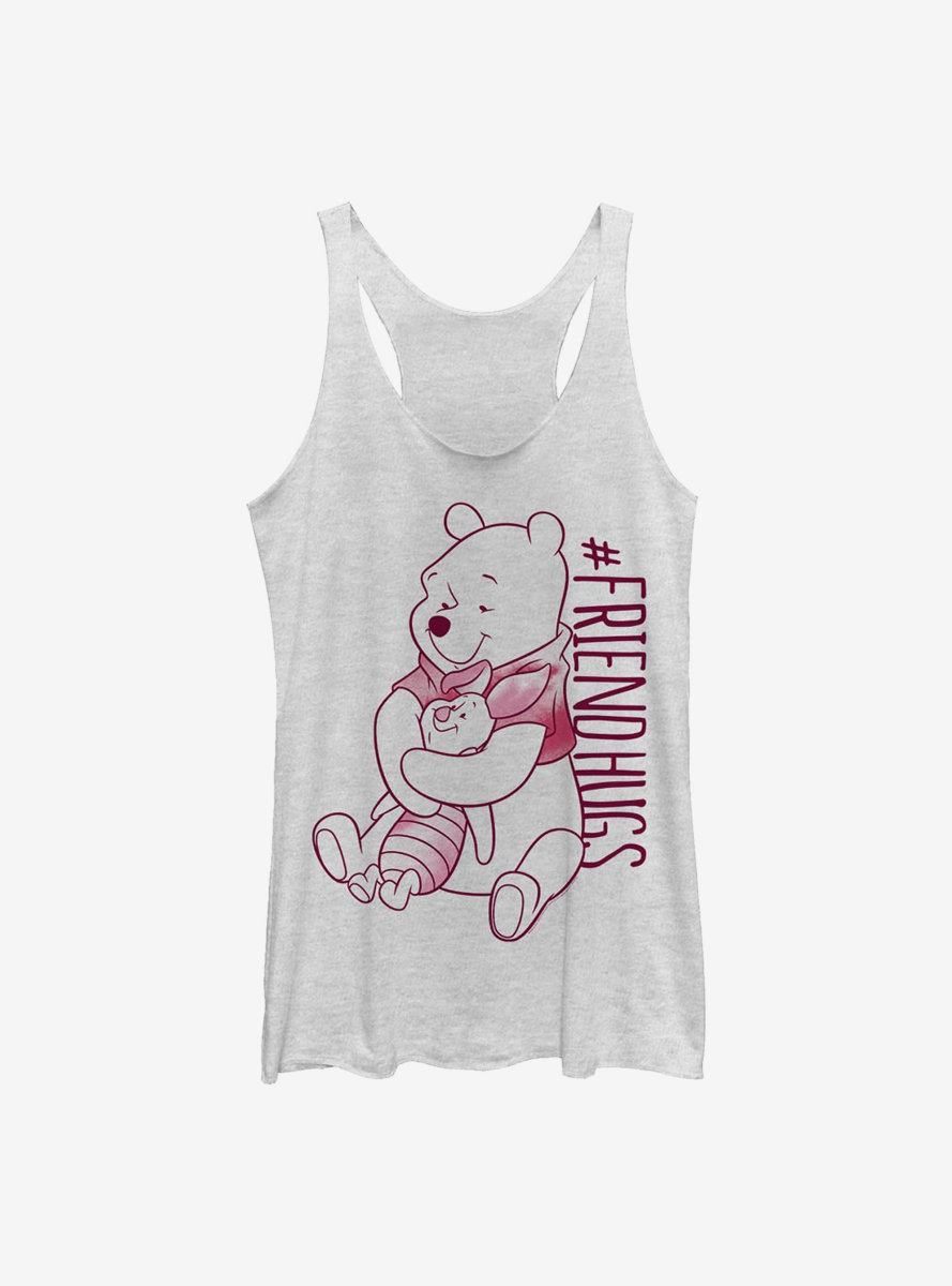 Disney Winnie The Pooh Piglet Pooh Hugs Womens Tank Top