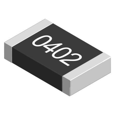TE Connectivity 1kΩ, 0402 (1005M) Thick Film SMD Resistor ±1% 0.12W - CRGP0402F1K0 (10000)