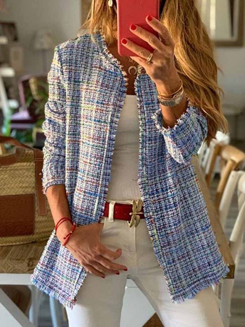 Ericdress Regular Straight Mid-Length Women's Overcoat