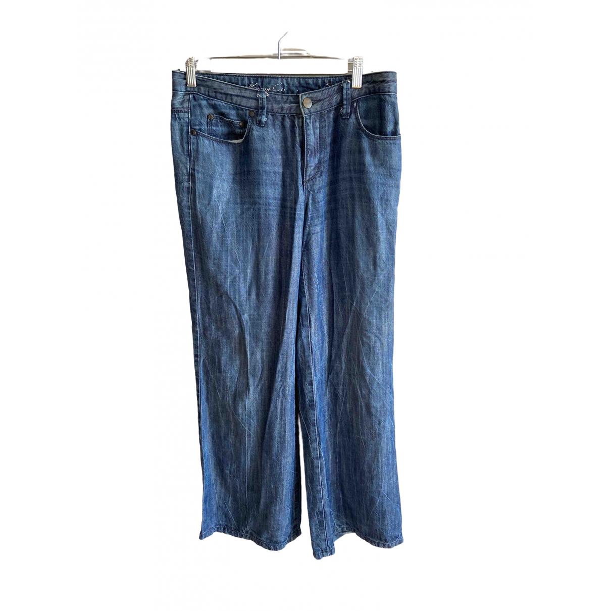 Kenneth Cole \N Blue Denim - Jeans Trousers for Women 38 FR