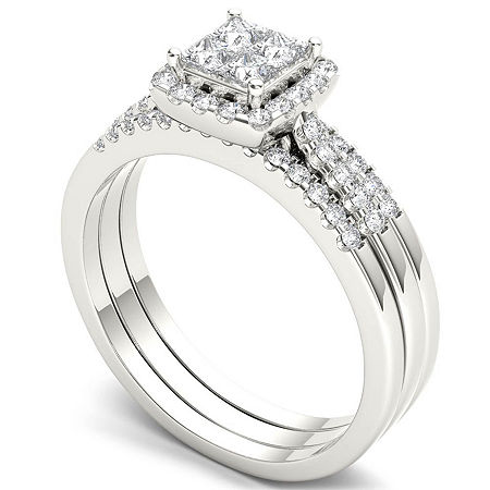 Womens 3/4 CT. T.W. Genuine White Diamond 10K Gold Bridal Set, 9 , Multiple Colors