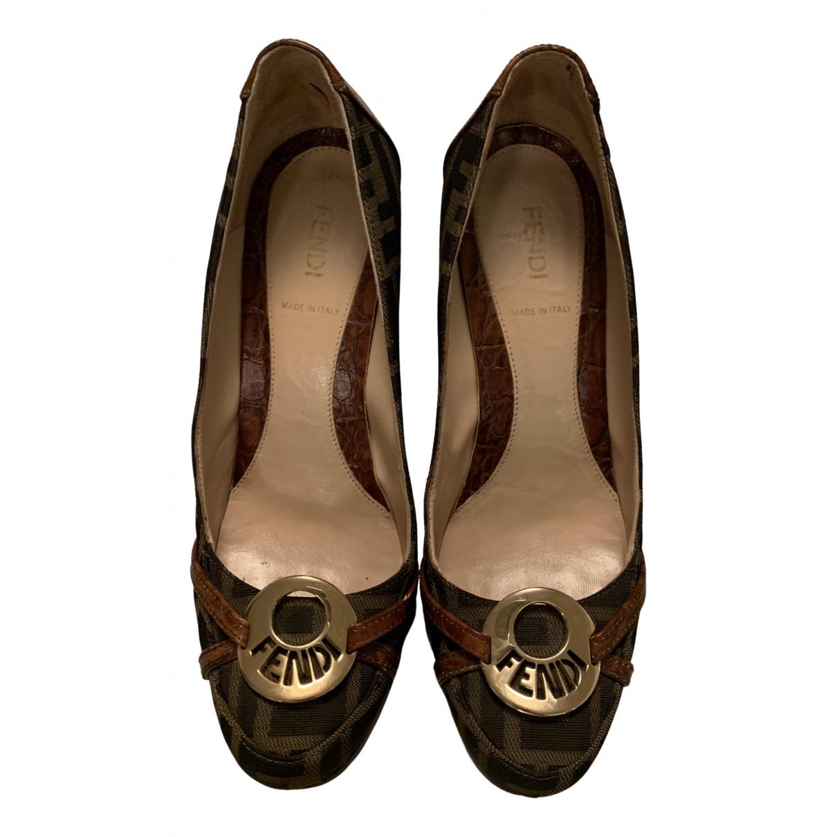 Fendi \N Brown Cloth Sandals for Women 38 EU