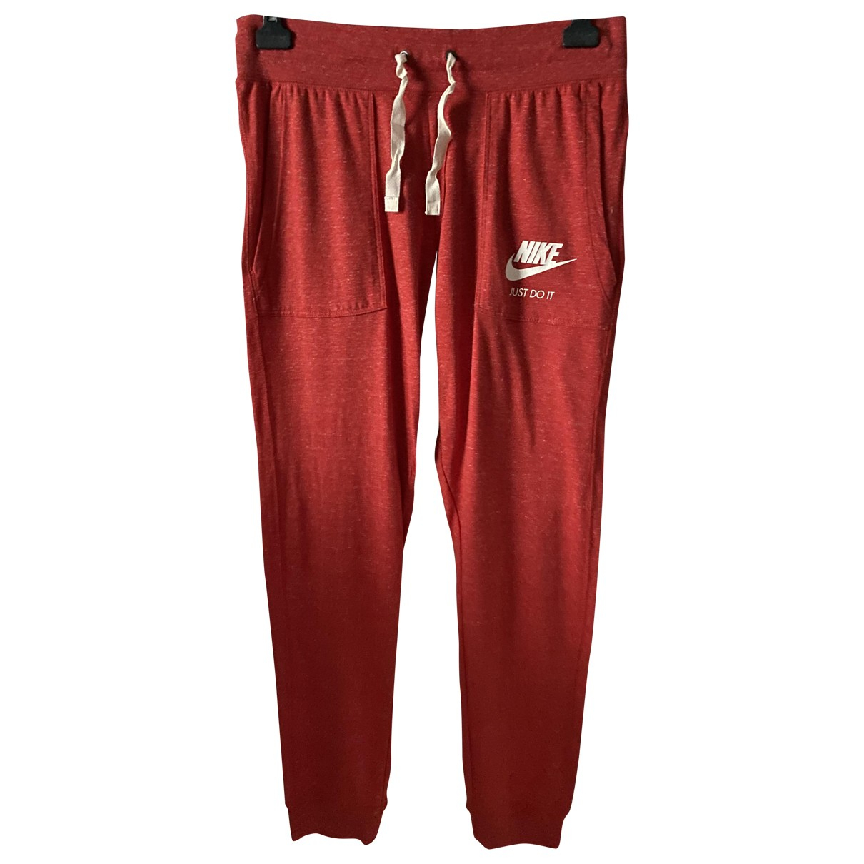 Nike \N Red Cotton Trousers for Women M International