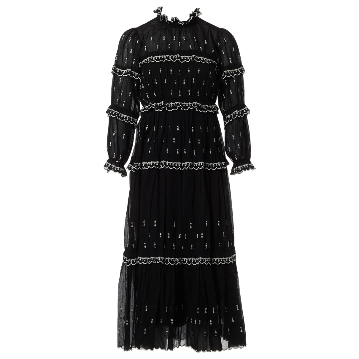 Isabel Marant Etoile \N Black Cotton dress for Women 36 FR