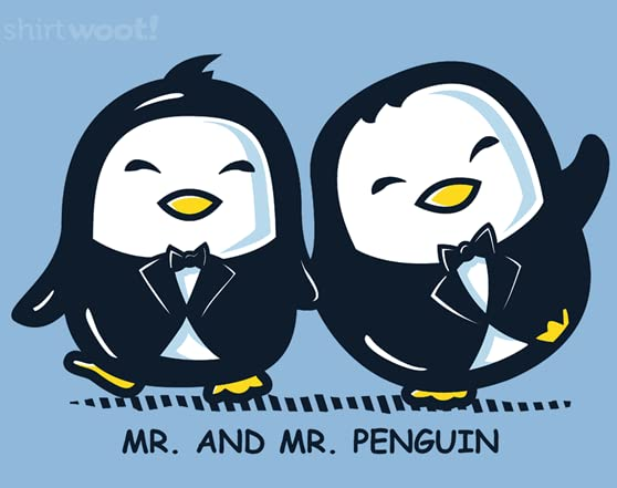Mr. And Mr. Penguin T Shirt