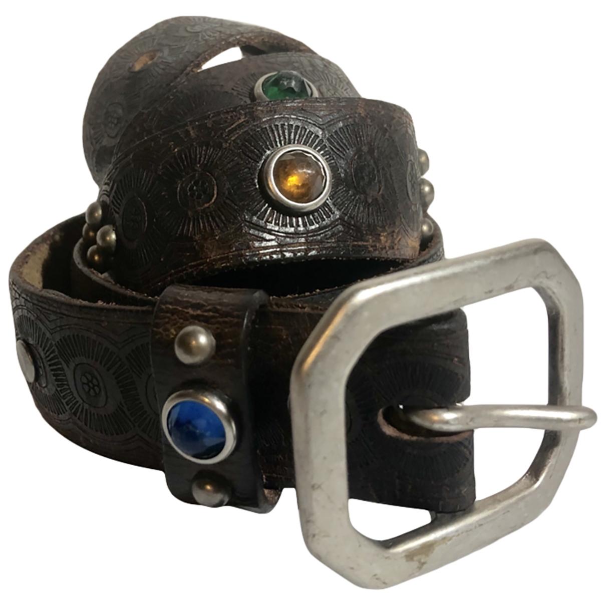Ralph Lauren Double Rl \N Brown Leather belt for Men 85 cm