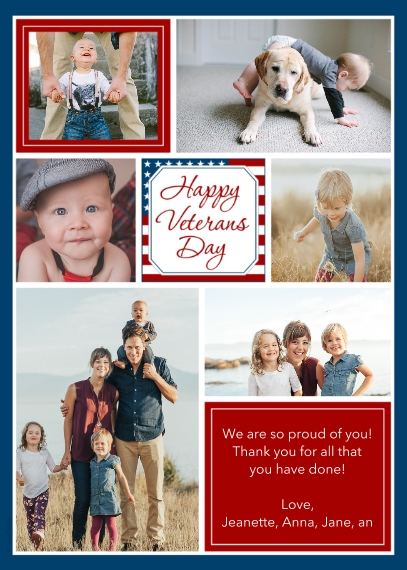 Veteran's Day Cards 5x7 Cards, Premium Cardstock 120lb, Card & Stationery -Happy Veterans Day