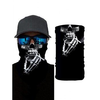 Halloween Skeleton Smoking Print Riding Face Mask Neck Gaiter