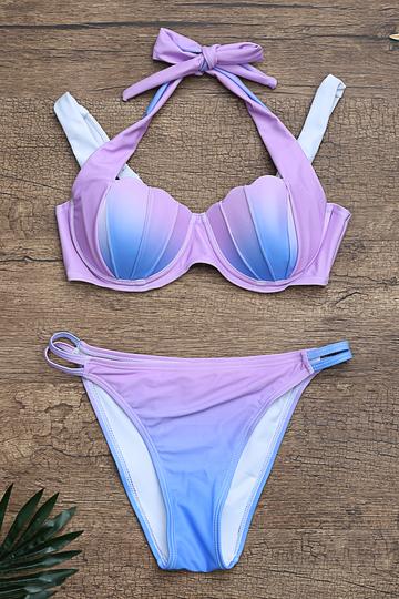 Yoins Gradient Sexy Shell Design Bodycon Swimwear