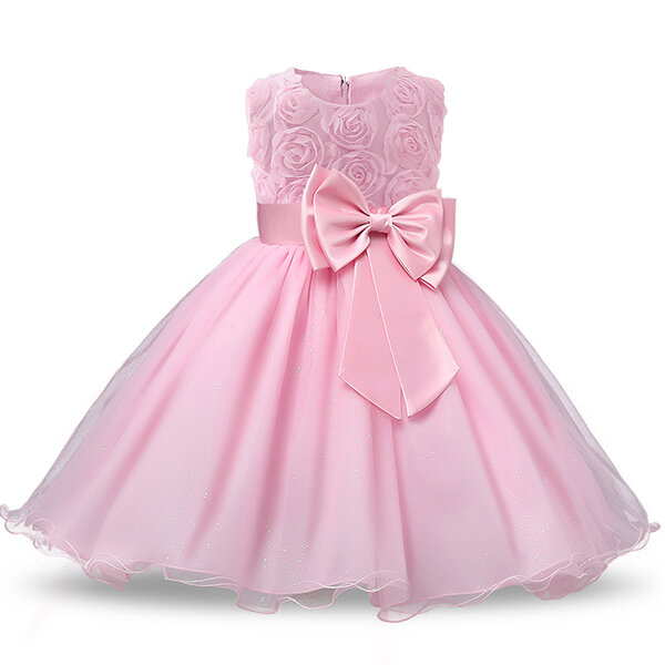 Flower Toddler Girls Kids Party Pageant Wedding Formal Princess Dress For 3M-12Y