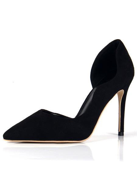 Milanoo Women's High Heels Pointed Toe Stiletto Heel Yellow Chic Pumps Heeled Shoes