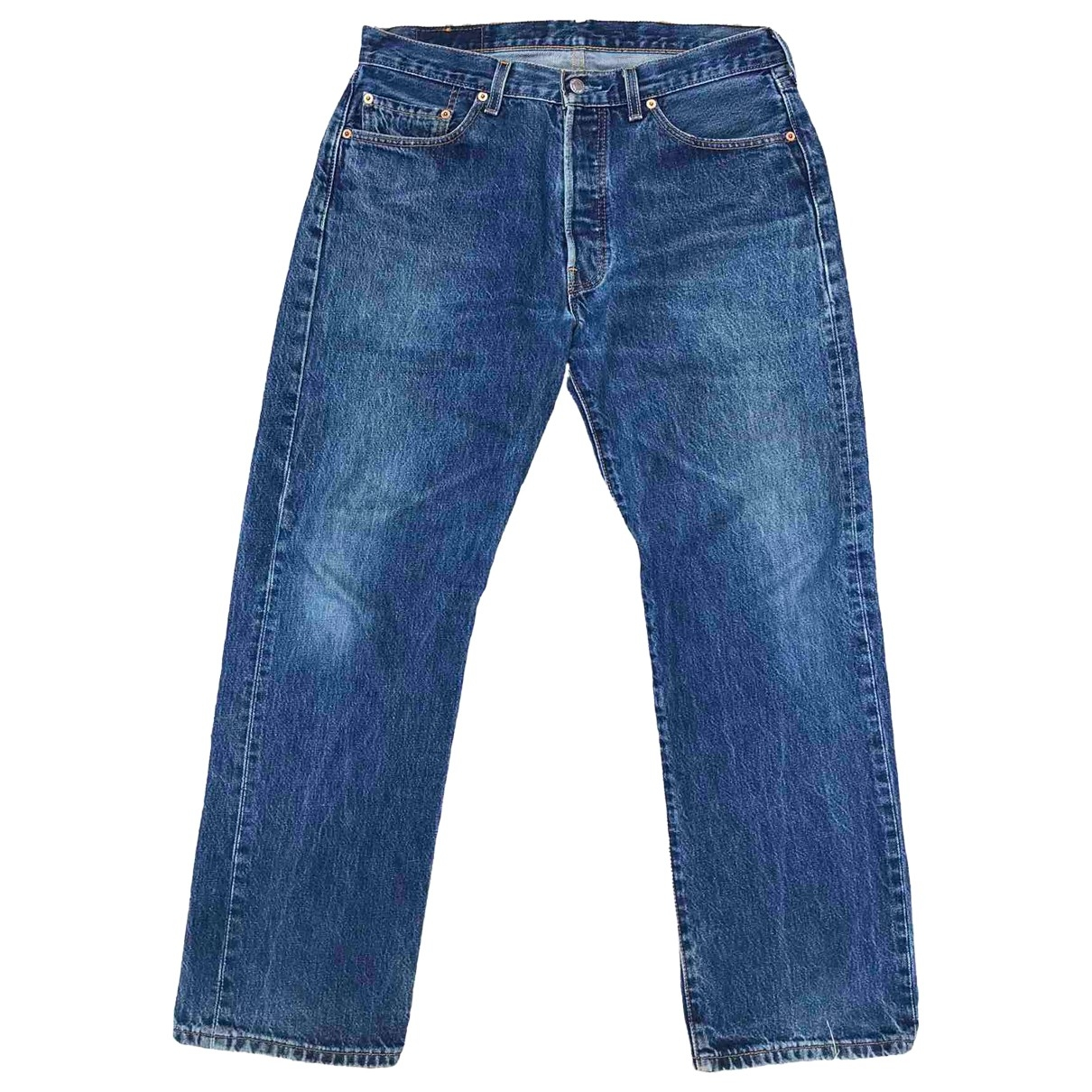 Levi's 501 Blue Cotton Jeans for Men 34 US