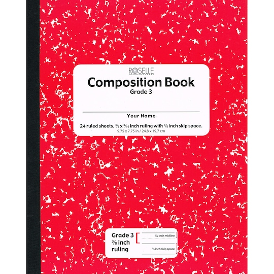 Pacon® Red Marble Grade 3 Soft Cover Composition Book, ct Of 24 | Michaels®