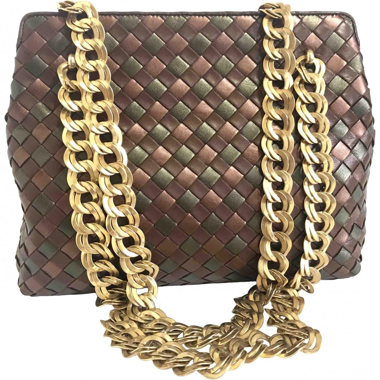 Bottega Veneta \N Metallic Leather handbag for Women \N