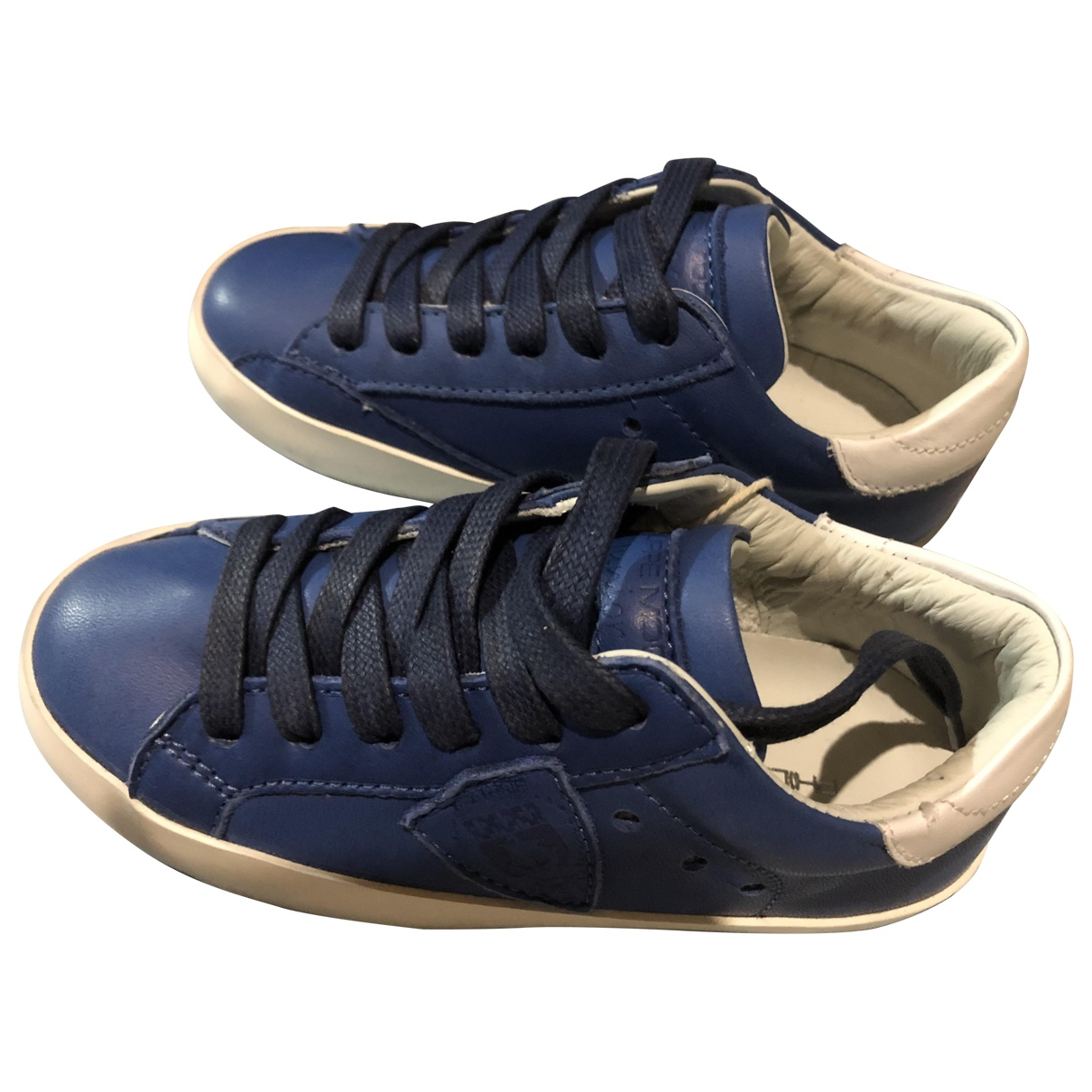 Philippe Model \N Blue Leather Trainers for Kids 25 FR
