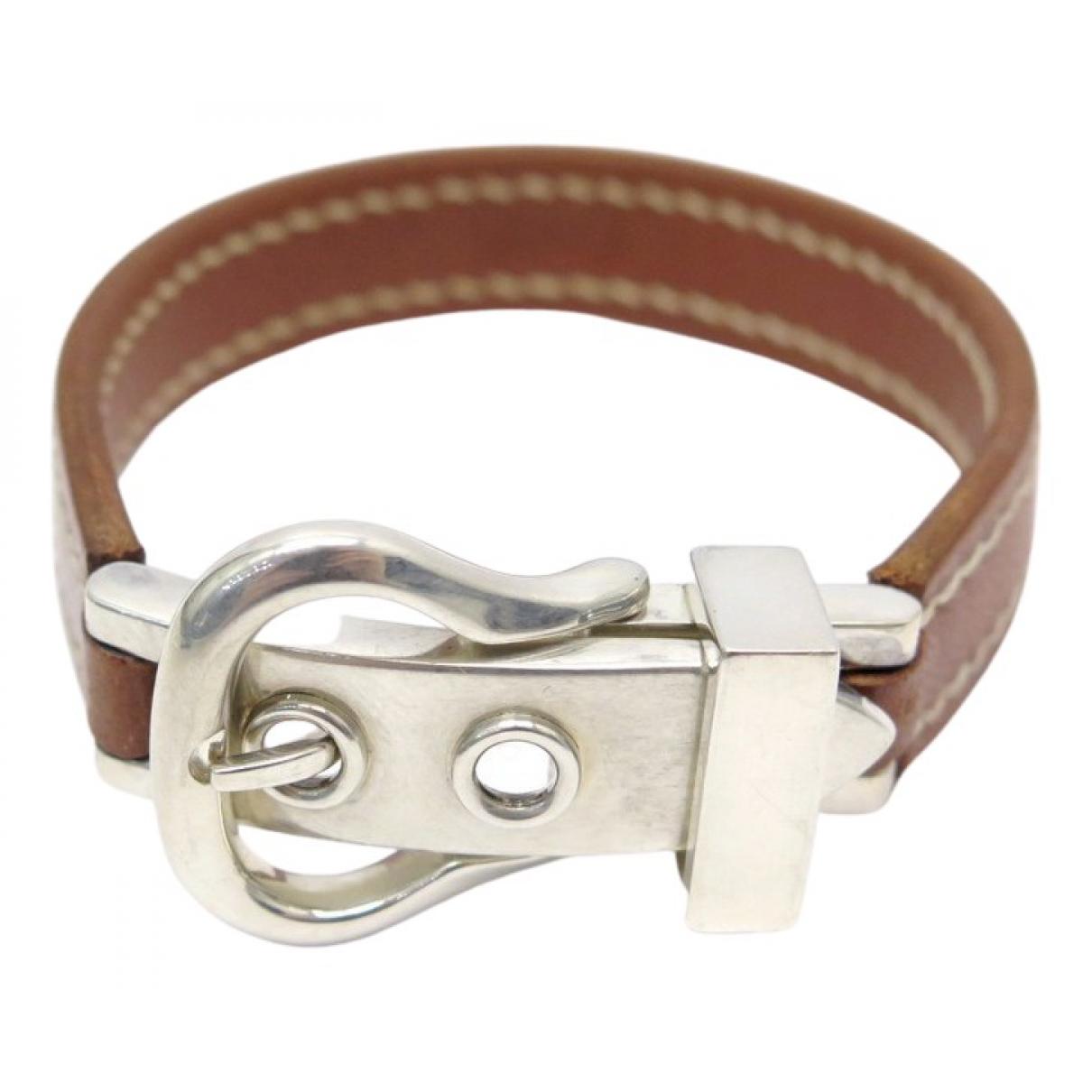 Hermès \N Brown Leather bracelet for Women \N
