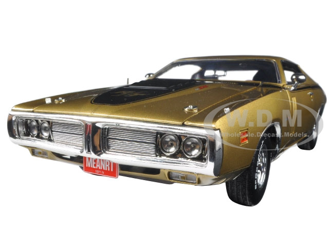 1971 Dodge Charger R/T 440 Six Pack 50th Anniversary GY8 Metallic Gold Limited Edition to 1002pc 1/18 Diecast Model Car  by Autoworld