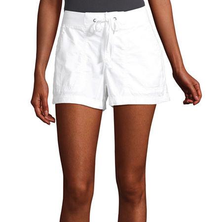 a.n.a Womens Knit Waist Short, 8 , White