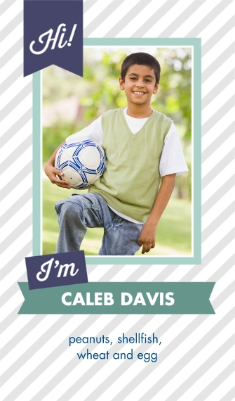 Photographic 2 x 3.5 Social/Contact Cards - Double Sided, Card & Stationery -All About Me
