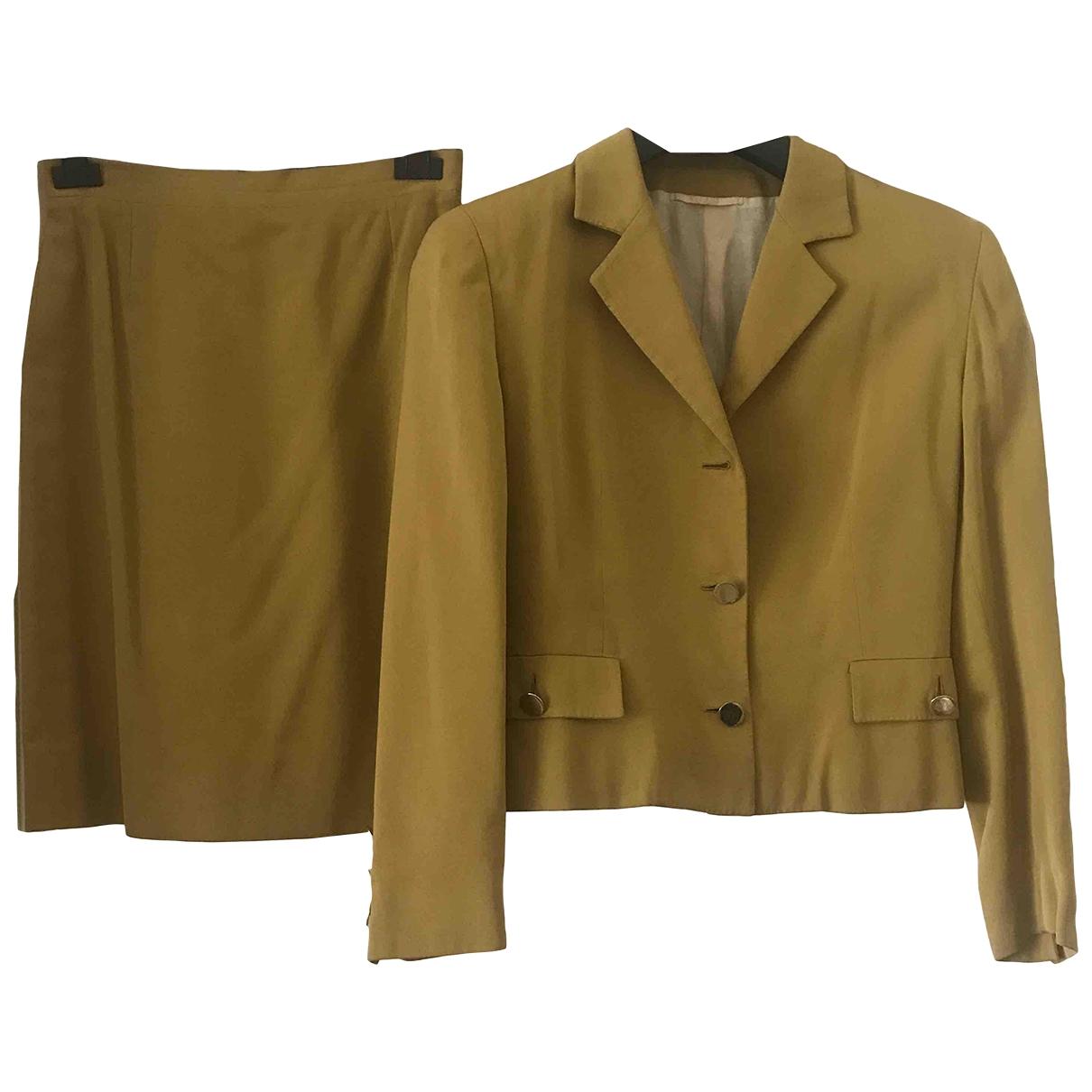 Brioni \N Camel Cotton skirt for Women 44 IT