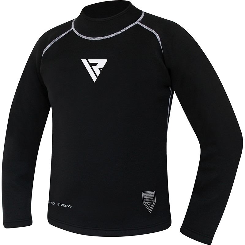 RDX X3 3XL Black Neoprene Compression Rash Guard Base Layer Top Shirt for Fitness Bodybuilding Power Weight Lifting Running Workout Boxing MMA for Men