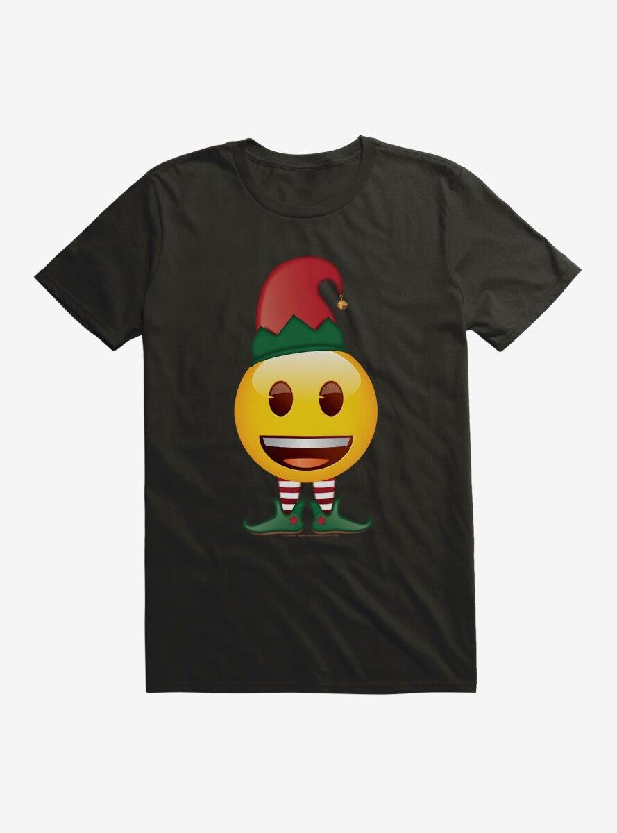 Emoji Holiday Icons Happy Face Elf T-Shirt