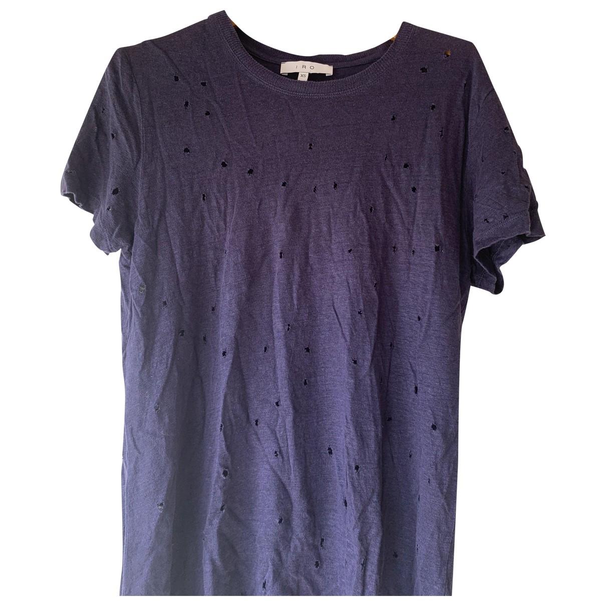 Iro \N Blue Linen  top for Women XS International