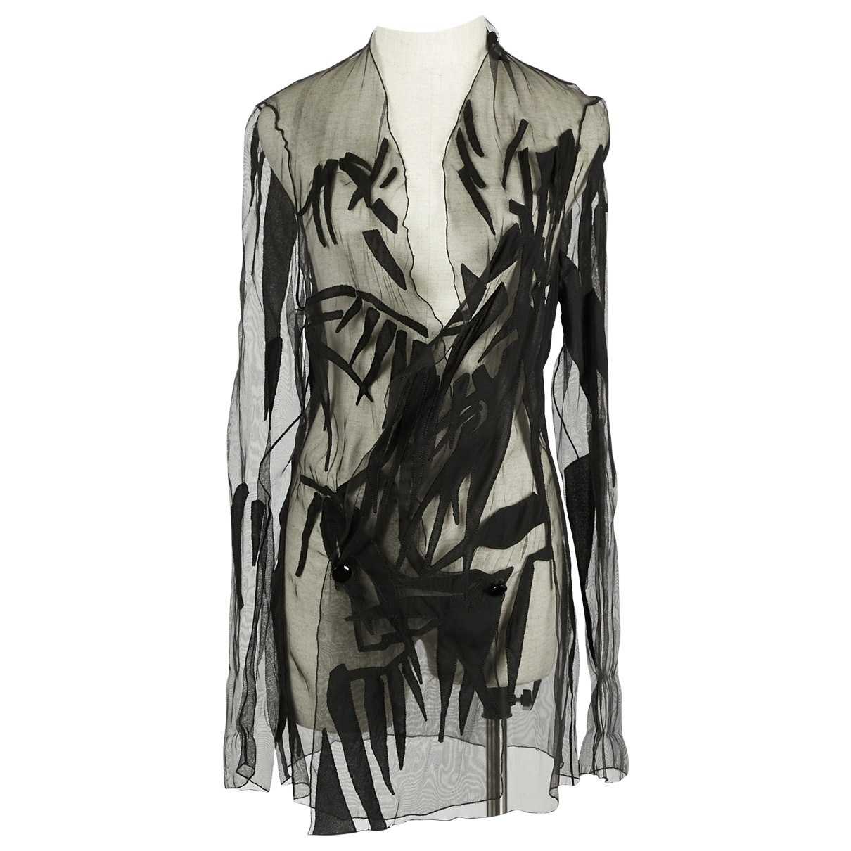Anthony Vaccarello \N Black Silk jacket for Women 40 IT