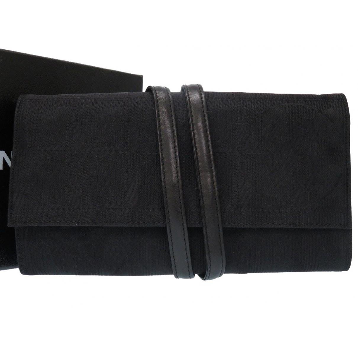 Chanel \N Black Cloth Clutch bag for Women \N