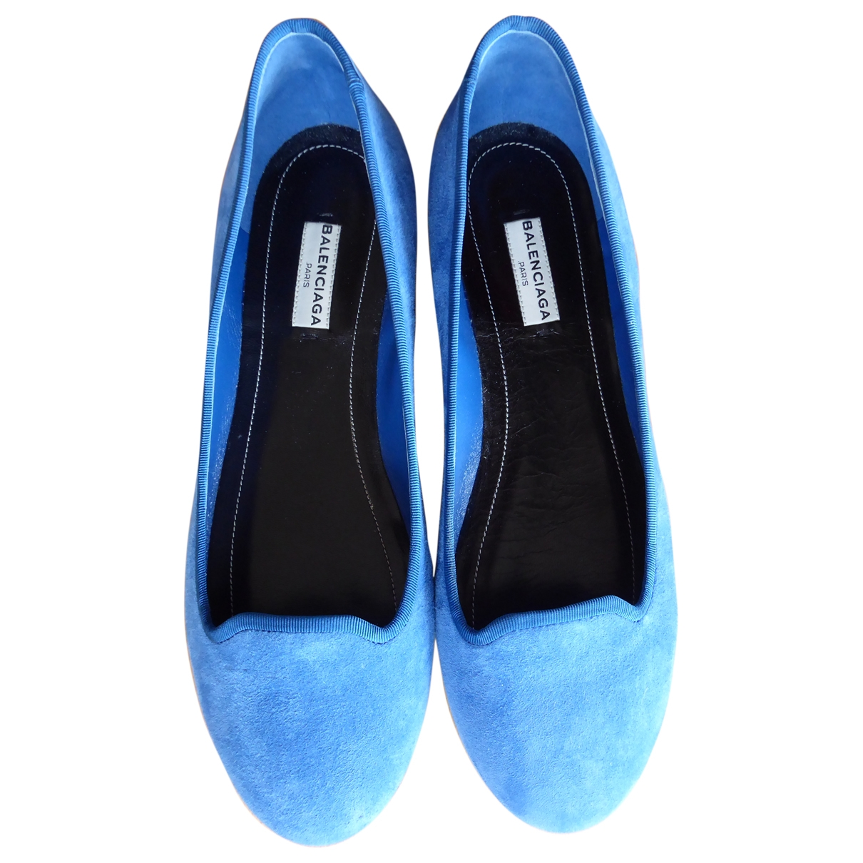 Balenciaga \N Turquoise Suede Ballet flats for Women 38.5 IT