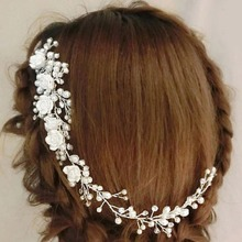 Flower & Pearl Design Hair Comb